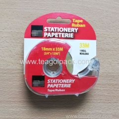 Stationery Tape Clear 18mmx33M With Dispenser