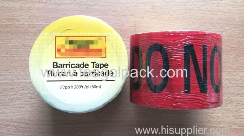 Danger Barricade Tape 3 x60M Red Background With Black Printing