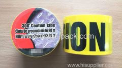 "Caution Tape 3""x90M Yellow Background with Black ""Caution"" Printing"