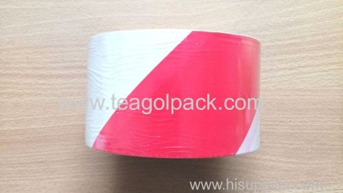Barrier Tape Red White 75mmx200M PE Non-Adhesive Warning Tape 75mmx200M