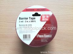 "Danger Tape 7.62cmx91.4M(3""x300ft) Red Background with Black ""Danger"" Printing"