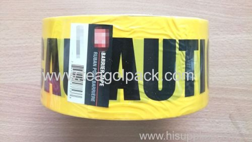 Caution Barrier Tape 7.62cmx305M (3 x1000ft) Yellow Background With Black  CAUTION Printing
