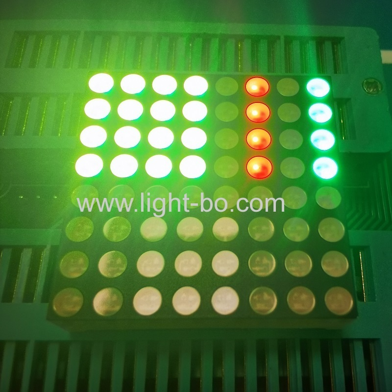 Bi-colour Red/Pure Green 8 x 8 Dot matrix LED Display for moving signs