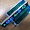 Customized Blue/Green/Red 7 Segment LED Display Module for Kitchen Hoods Control Switch