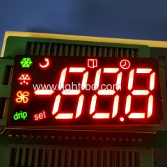 Customized multicolour Triple Digit 7 Segment LED Display Module for Refrigerator Control Panel