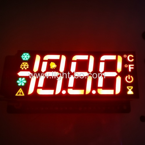 High brightness Red/yellow/green Customized Three Digits 7 Segment LED Display for refrigerator control