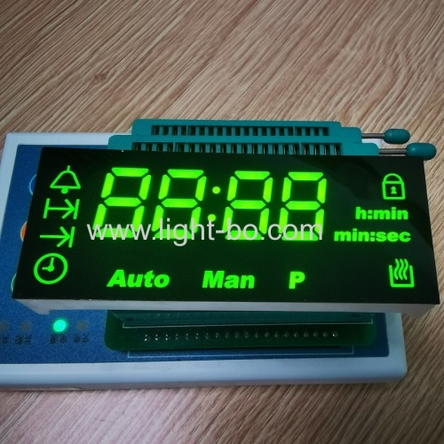 Custom Super bright Green 4 Digits 7 Segment LED Display for Oven Timer Indicator