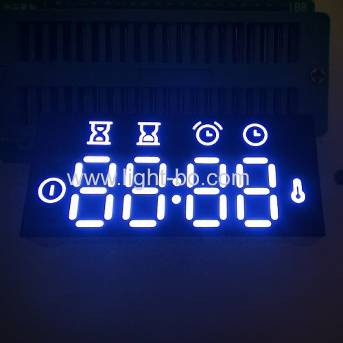 Ultra white customized 4 Digit LED Clock Display Common Anode for Oven Controller