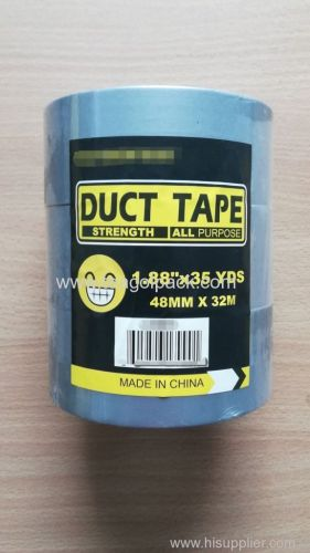 3 Rolls Set Cloth Duct Tape All Purpose Silver 48mmx32M