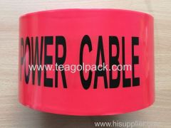 Jumbo Roll Underground Undetectable Caution Tape Black Printing with Red Background