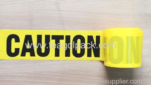 Caution Tape Yellow Background with Black  Caution  Printing