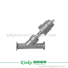 ptfe soft seal angle seat valve for water treatment industry