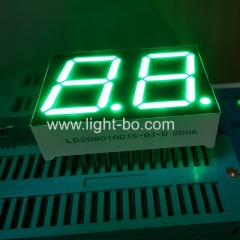 High brightness Pure Green 0.8inch Dual Digit 7 Segment led display for water heater