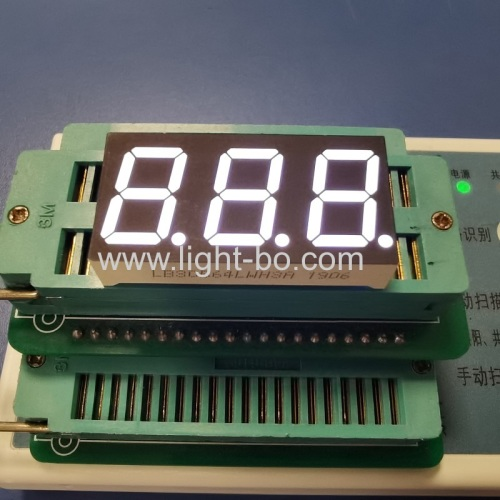 Triple digit 0.56inch ultra white 7 segment led display common cathode for temperature control