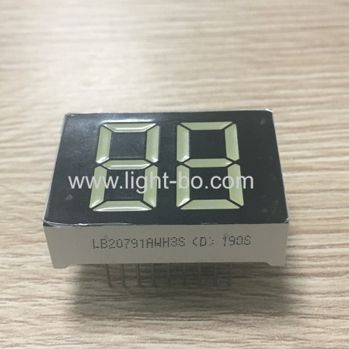 Ultra white 0.79inch Dual Digit 7 Segment LED Display common anode for water heater