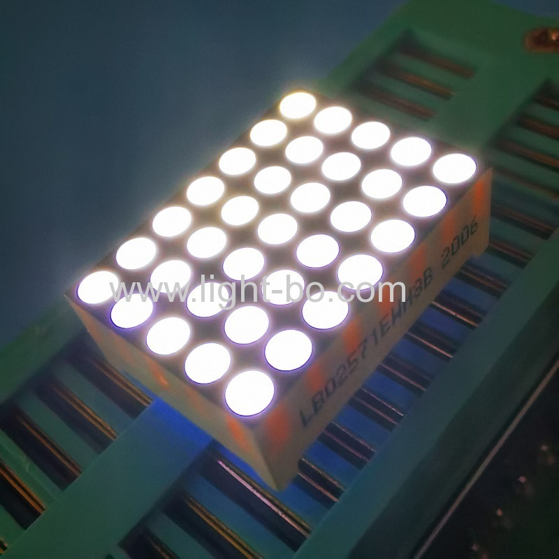 "Ultra white 0.7"" 5 x 7 Dot Matrix LED Display Row cathode column anode for elevator"