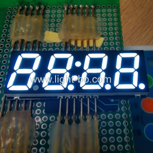 "Ultra white 0.56"" Four Digits 7 Segment SMD LED Clock Display common cathode for microwave timer"