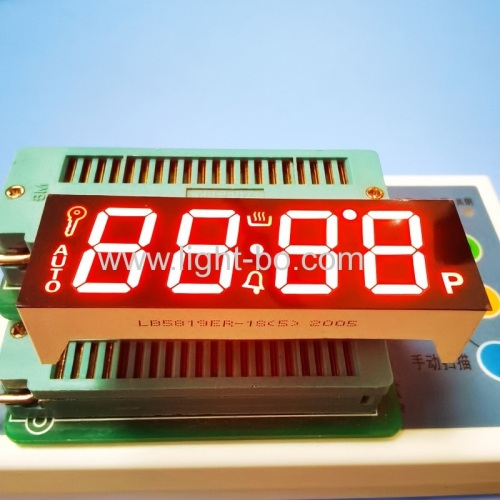 "Ultra Red 0.56"" 4 Digit 7 Segment LED Display common cathode fro oven control"