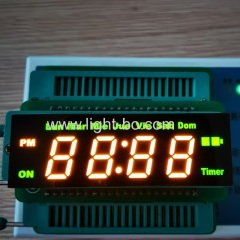 Customized yellow / green 4 digit 7 Segment led clock display common anode for digital timer control