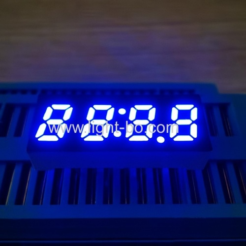 "Ultra blue small size 0.25"" 4 Digit 7 Segment LED Clock display for home appliances"