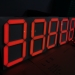 Ultra bright Red 20inch Large Size 7 Segment LED Display for Gas Station price Indicator