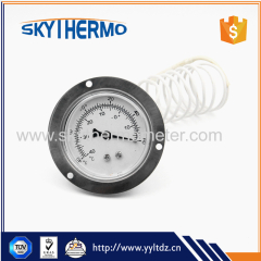 ss capillary temperature gauge remote reading thermometer with top flange back connection