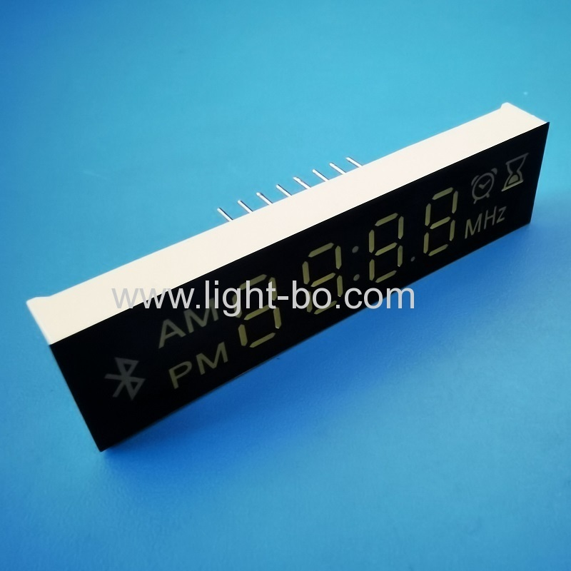 Customized Ultra white 4 Digit 7 Segment LED Display Module for bluetooth Speaker / Radio