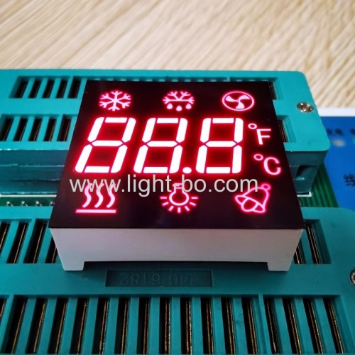 Ultra Red Customized Triple Digit 7 Segment LED Display Common Anode for Refrigerator Control