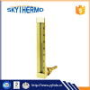 v shape metal shell industrial glass type angle glass thermometer