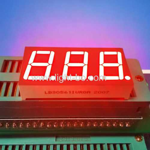 "0.56"" Triple Digit 7 Segment LED Display Common Anode Ultra bright Red For Temperature Control"
