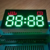 Custom Design Ultra Red /pure Green 4 Digit 7 segment LED Clock Display for mini oven control