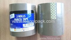 2 Rolls Stationery Parcel Tape Brown 25M