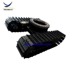 Custom seawater desilting equipment steel track undercarriage with slewing bearing