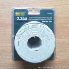80mm Wx3.35m L Industrial Tools Self-Adhesive Border Tape White