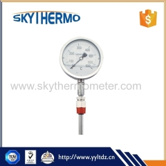 stainless steel industrial bimetallic dial bimetal theory instant probe thermometer