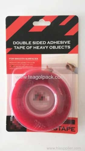 Double Sided Mounting Acrylic Adhesive Tape Red of Heavy Objects