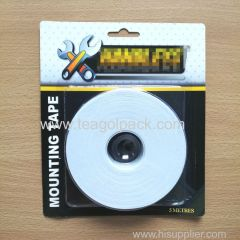 19mm Wx5m L Double Side EVA Foam Mounting Tape White