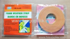 Windows&Doors Foam Seal Strip 18mmx5.5M Foam Weather Strip 18mmx5.5M
