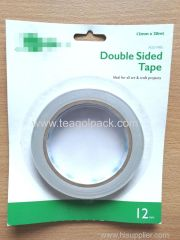 12mmx20M Double Sided Tissue Tape White