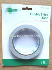 18mmx20M Double Sided Tissue Tape White