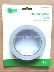 25mmx20M Double Sided Tissue Tape White