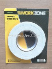 24mm Wx5m L Double Sided Sticky Foam Tape ..Release Film: White+White Foam Tape