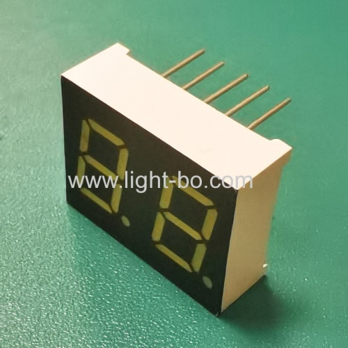 Ultra bright white 0.4inch Dual digit 7 segment led display common cathode for instrument panel