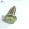 Hex flange bolts yellow zinc plated