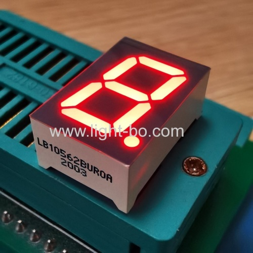 "Ultra Red 0.56"" Single Digit 7 Segment LED Display common anode for Instrument Panel"