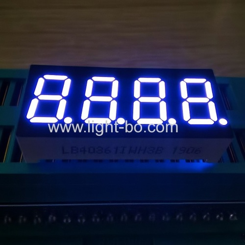"Ultra bright white 4 Digit 0.36"" 7 Segment LED Display common anode for instrument panel"