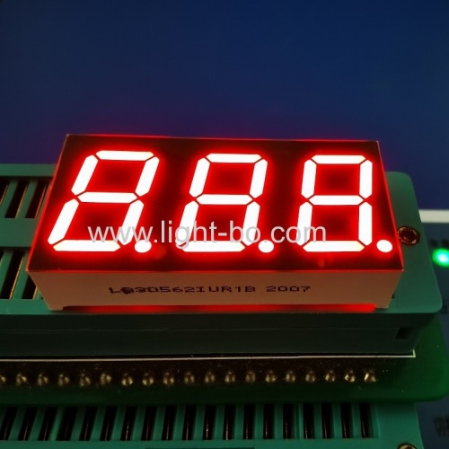 "Ultra bright red 0.56"" Triple Digit 7 Segment LED Display common anode for temperatrue controller"