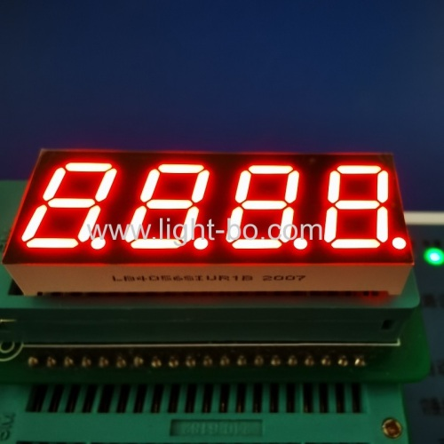 "Ultra bright Red 0.56"" 4 Digit 7 Segment LED Display Common Anode for Instrument Panel Controller"
