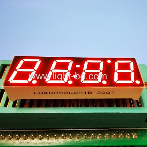 "Ultra bright Red 0.39"" 4 Digit 7 Segment LED Display common cathode for Instrument Panel"