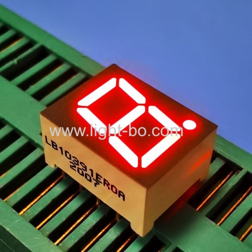 Single digit 0.39inch common cathode Red 7 Segment LED Display for instrument Panel